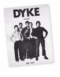 DAQ dyke a quarterly announcement flier 1974