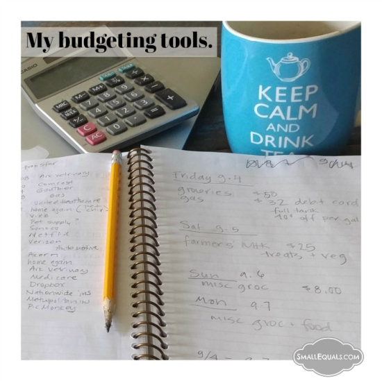 Tools for budgeting