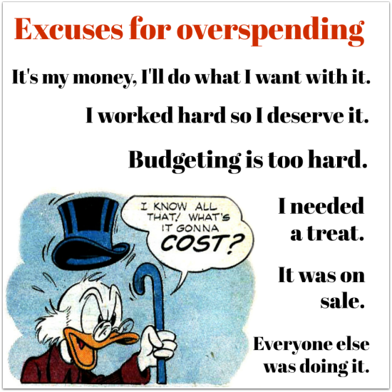 Budgeting  overspending  excuses
