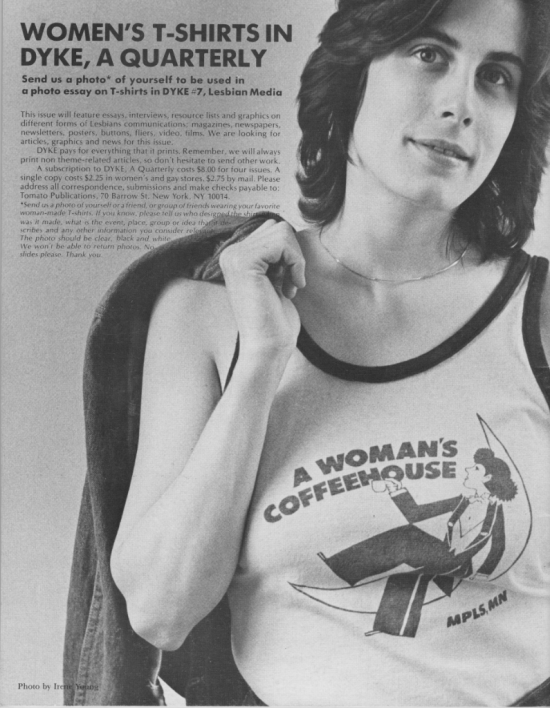 Back cover dyke a quarterly 1977 photo by Irene Young