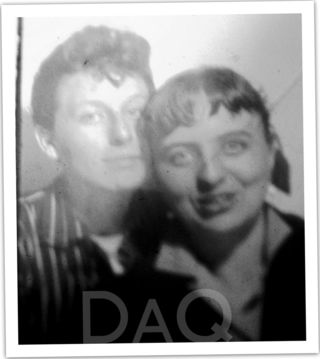 Dyke a quarterly,  Blue London and anon woman in photobooth 1950's or early 60's