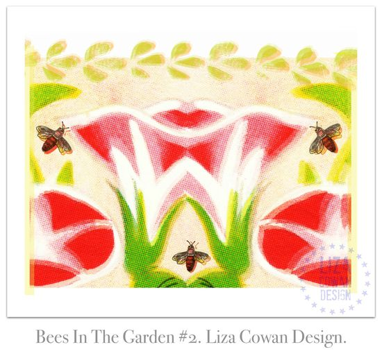 Bees In The Garden #2. Liza Cowan Design