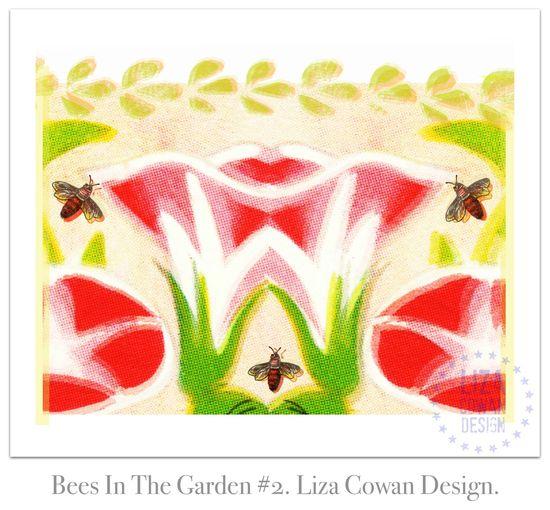 Bees In The Garden #2. Liza Cowan Design