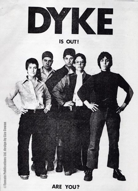 DYKE A Quarterly, DYKE IS OUT publicity flier signed copy
