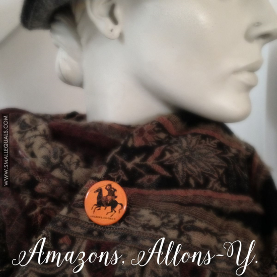 Amazons allons y button on diane dewitt / ralph pucci mannequin fwww.smallequals.com