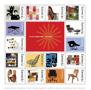 Eames stamp, charles eames, raye eames