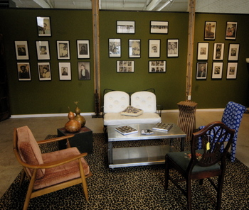 photobooth, photobooth exhibit, olive green walls